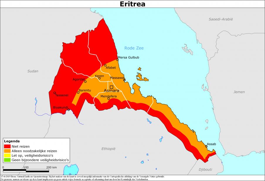 Reisadvies Eritrea | Ministerie van Buitenlandse Zaken