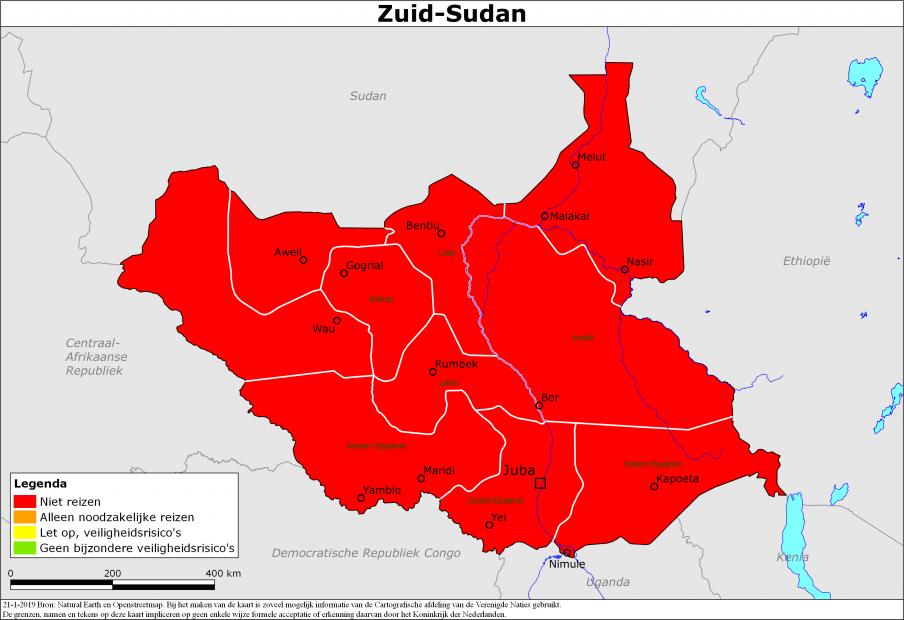 Reisadvies Zuid-Sudan | Ministerie van Buitenlandse Zaken