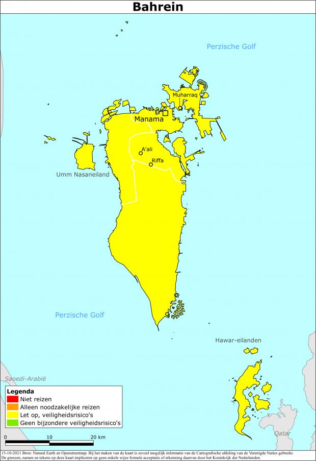 Reisadvies Bahrein | Ministerie van Buitenlandse Zaken