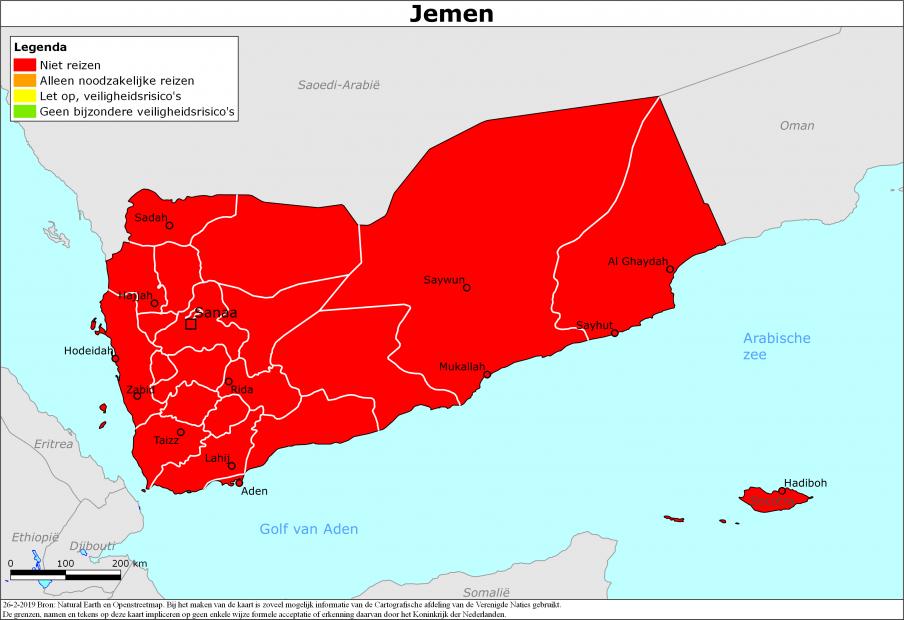 Reisadvies Jemen | Ministerie van Buitenlandse Zaken