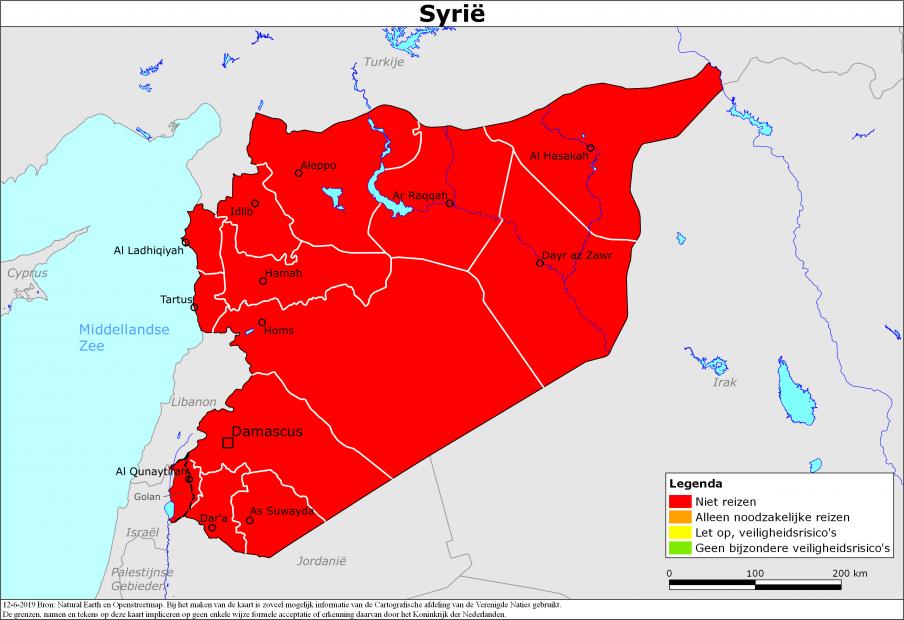 Reisadvies Syrië | Ministerie van Buitenlandse Zaken