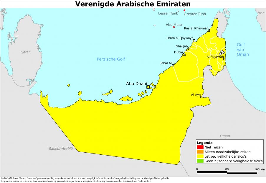 Reisadvies Verenigde Arabische Emiraten | Ministerie van Buitenlandse Zaken