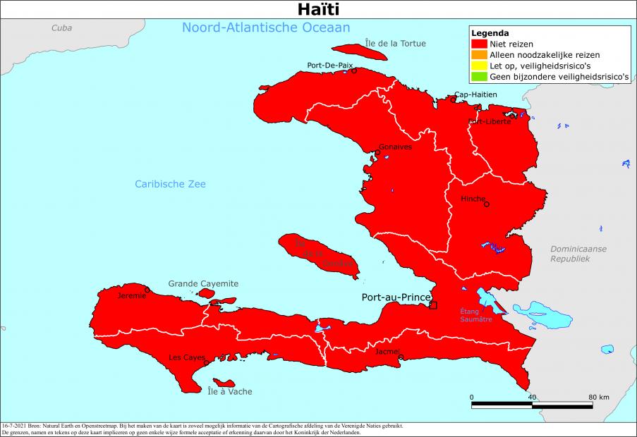 Reisadvies Haïti | Ministerie van Buitenlandse Zaken