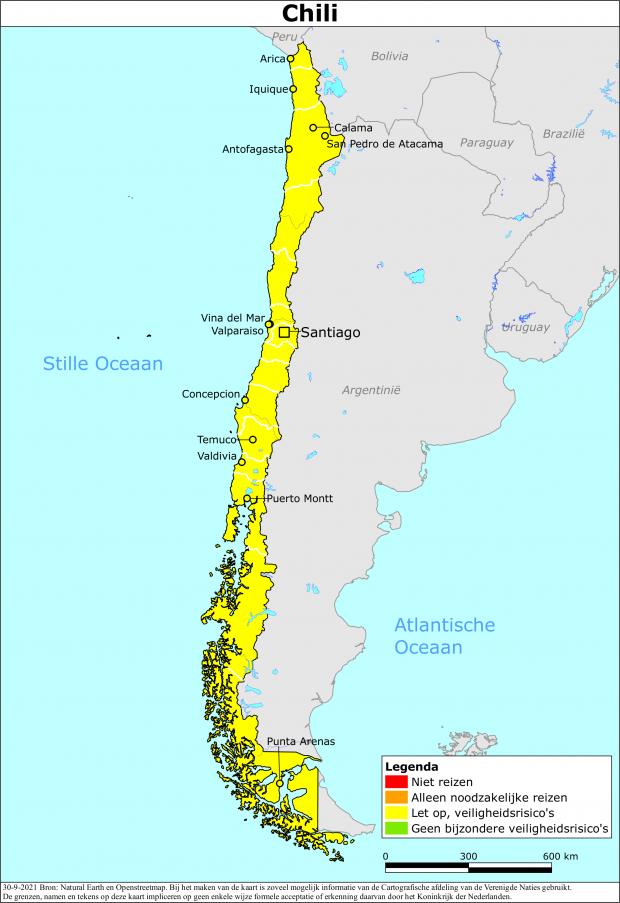 Reisadvies Chili | Ministerie van Buitenlandse Zaken